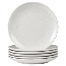 White Mari 26cm Ceramic Dinner Plates (Set of 6)