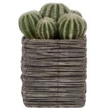 25cm Potted Faux Cactus Plant