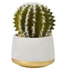 18cm Potted Faux Cactus Plant