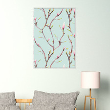 Flower Branches Framed Canvas Wall Art