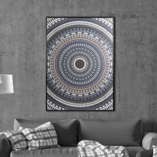 Spiral Framed Canvas Wall Art
