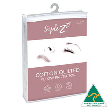 Quilted Cotton Standard Pillow Protector