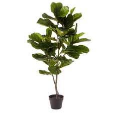 120cm Potted Faux Fiddle Leaf Plant