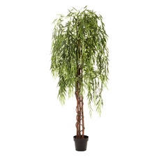 180cm Potted Faux Weeping Willow Tree