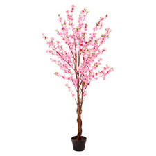 160cm Potted Faux Cherry Blossom Tree