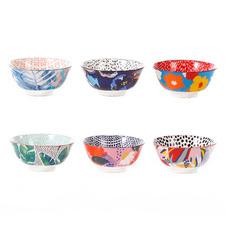 6 Piece Garden Lifestyle 15.5cm Ceramic Soup Bowl Set