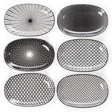 6 Piece Ava Ceramic Side Plate Set