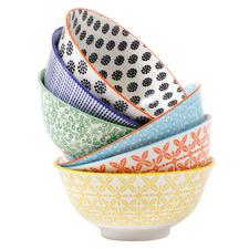 6 Piece Viola 15.5cm Ceramic Soup Bowl Set