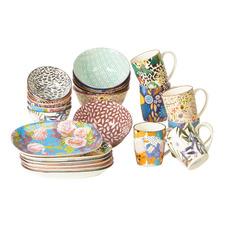 24 Piece Cooper & Co Floral Porcelain Dinner Set