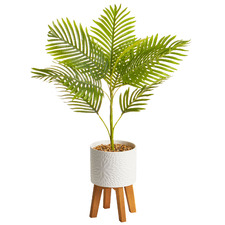 86cm Faux Palm Tree in Ceramic Pot with Stand
