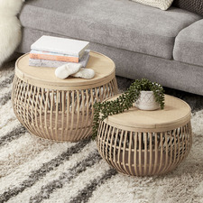 Sara Bamboo Coffee Tables (Set of 2)