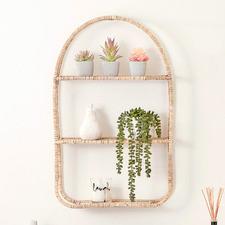 Loreto Rattan Oval Shelf