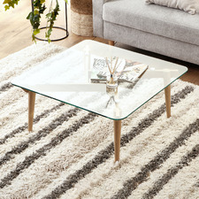 Matilda Oak Wood & Glass Coffee Table