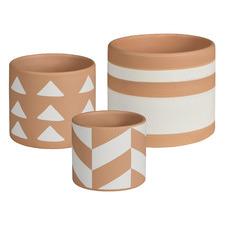 3 Piece Idaho Terracotta Pot Set