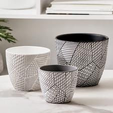 3 Piece Vine Terracotta Pot Set