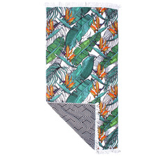 Tasselled Banana Leaf Beach Towel