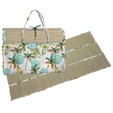 Printed Moon Palm Straw Beach Mat