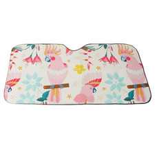 140 x 72cm Rose Cockatoo Car Sunshade