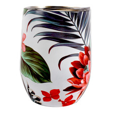 350ml Tropical Petal Stainless Steel Coffee Cup