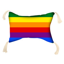 Rainbow Inflatable Beach Pillow