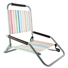 Pastel Stripe Foldable Beach Chair