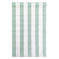 Sage Retro Stripe Outdoor Rug