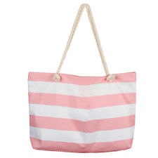 Retro Stripe Jumbo Beach Bag