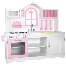 Kids' Princess Wooden Kitchen Counter Play Set