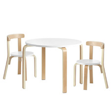 Areva 2 Seater Kids Wooden Table & Chair Set