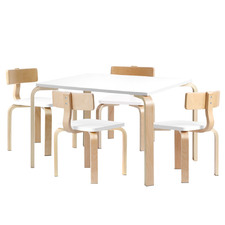 Areva 4 Seater Kids Wooden Table & Chair Set