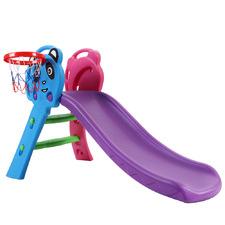 Kids' Purple Perry Slide with Basketball Hoop