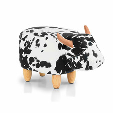 Lumina Faux Leather Kids Cow Stool