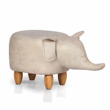 Lumina Upholstered Kids Elephant Stool