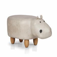 Lumina Upholstered Kids Hippo Stool