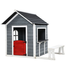 Grey Primo Fir Wood Outdoor Play House