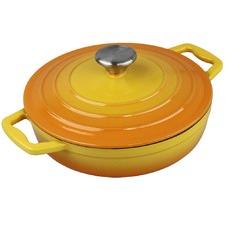 Orange Xanten 22cm Cast Iron Casserole