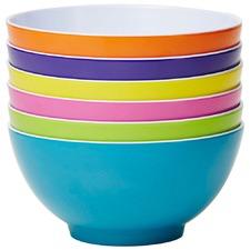 6 Piece Fiesta Classic 15cm Melamine Bowl Set