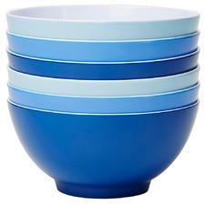 6 Piece Glacier Classic 15cm Melamine Bowl Set