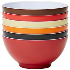 6 Piece Vintage Classic 15cm Melamine Bowl Set