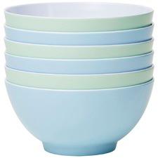 6 Piece Frost Classic 15cm Melamine Bowl Set