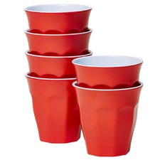 Red Classic Melamine Tumblers (Set of 6)