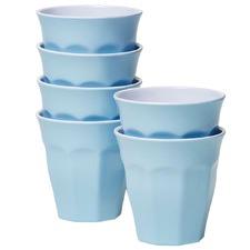 Blue Classic Melamine Tumblers (Set of 6)