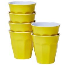 Yellow Classic Melamine Tumblers (Set of 6)