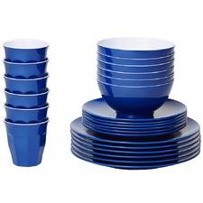 Royal Blue Classic Melamine Dinner Set