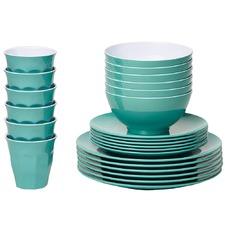 Green Classic Melamine Dinner Set