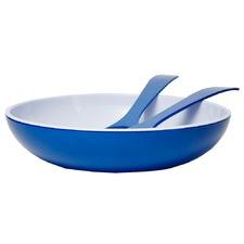 3 Piece Royal Blue Deluxe Melamine Salad Bowl & Server Set