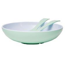 Mint Deluxe Melamine Salad Bowl & Server Set