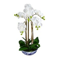 Faux Orchid In Dynasty Pot