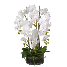 78cm Tall 6 Stem Faux Orchids Set with Pot