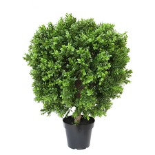 60cm Faux Boxwood Ball with Pot